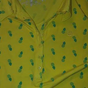f403f554c7f Gloria Vanderbilt Tops - Pineapple Polo